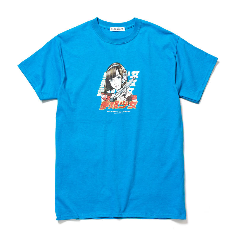 """F-LAGSTUF-F / """"Dream and reality"""" Tee 2 (Blue)"""