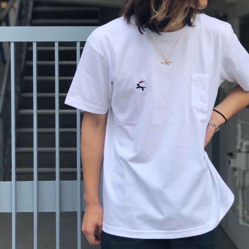 Diaspora skateboards / DET Pocket Tee (white)