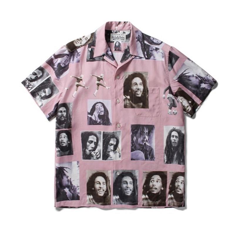 WACKO MARIA x BOB MARLEY / S/S HAWAIIAN SHIRT (pink)