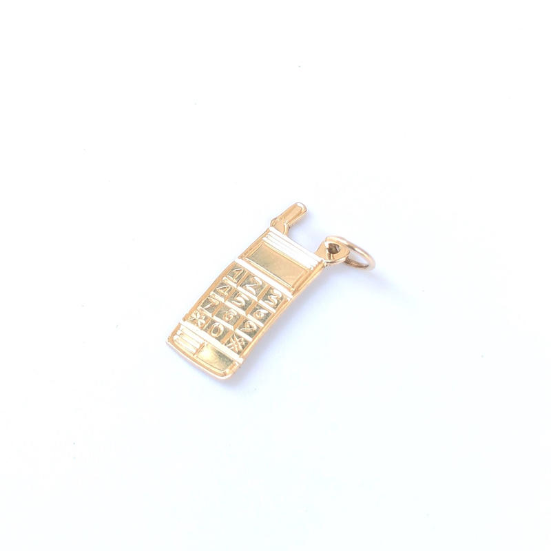 "14K GOLD Pendant Top ""携帯電話"" ①"