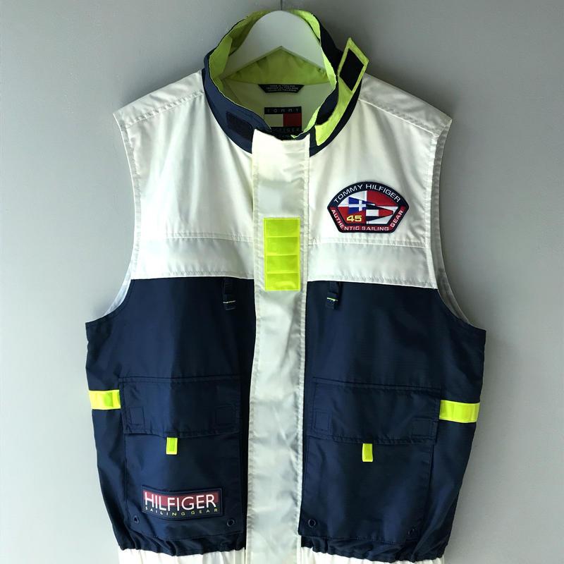 "90's ""TOMMY HILFIGER""/  sailing gear  vest (USED)"
