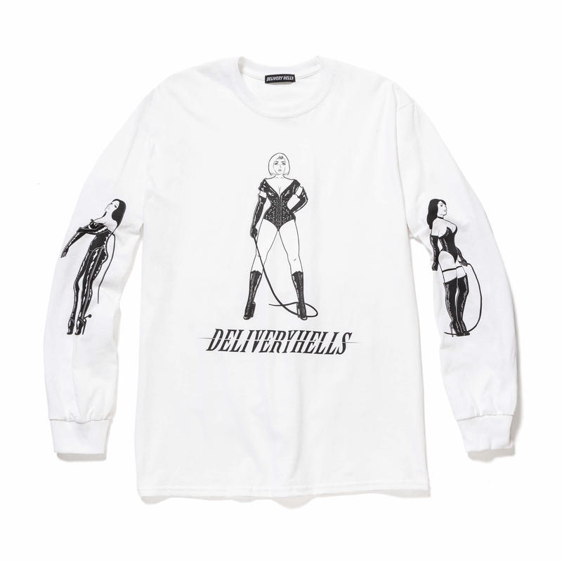 """Delivery Hells / """"3"""" L/S Tee (white)"""