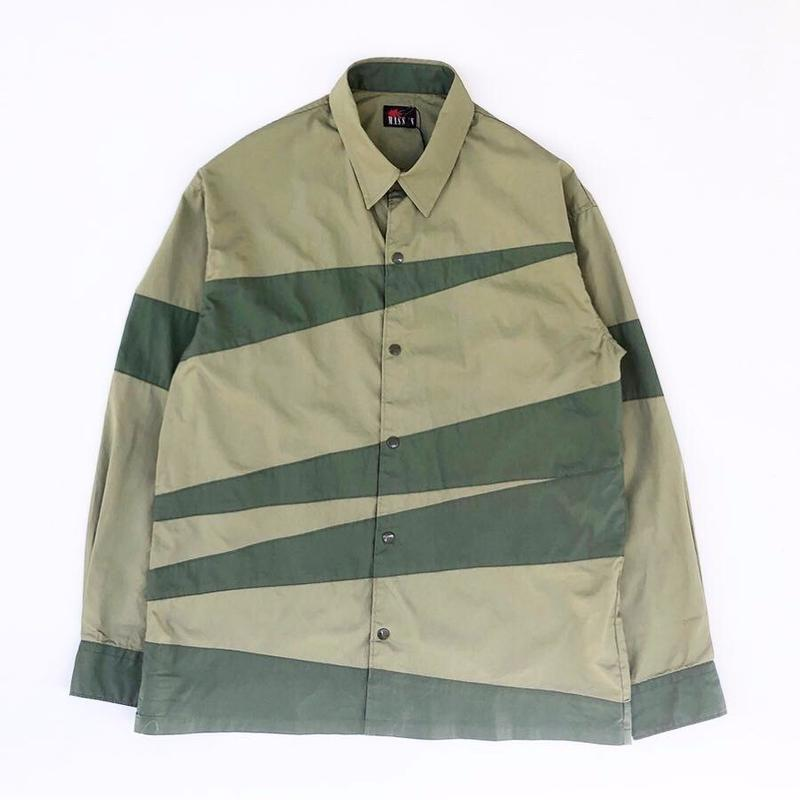 MASSES /  CRAZY PATTERN SHIRT (light green)