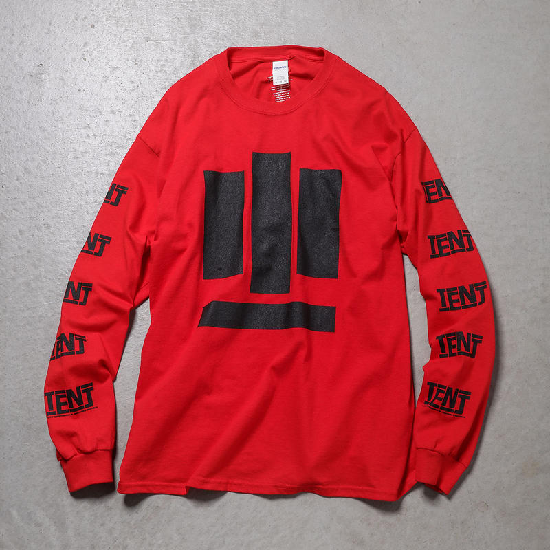 """Tenjinyu / 10th """"BUSINESS AS USUAL"""" L/S Tee (red)"""