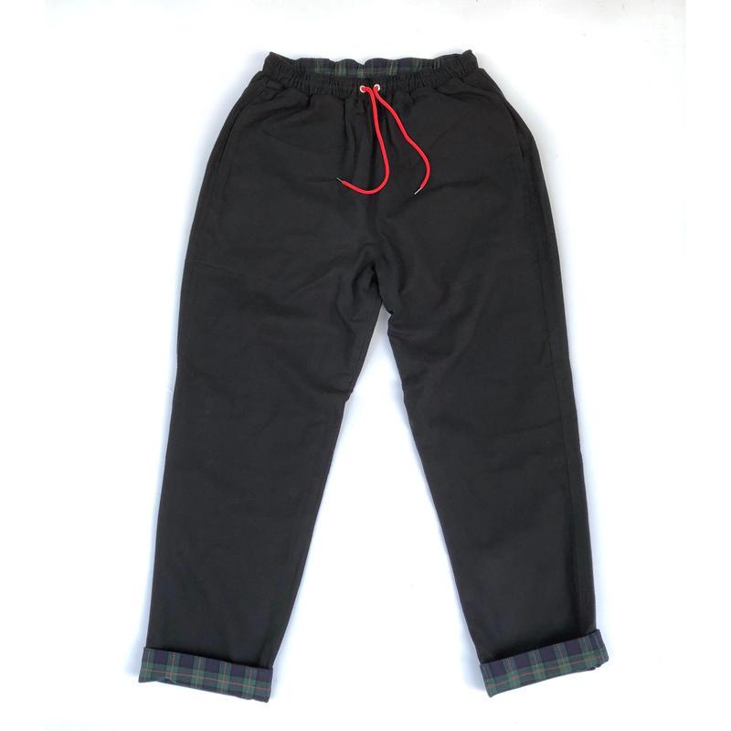 THREE FACE / REVERSIBLE EASY PANTS (black)
