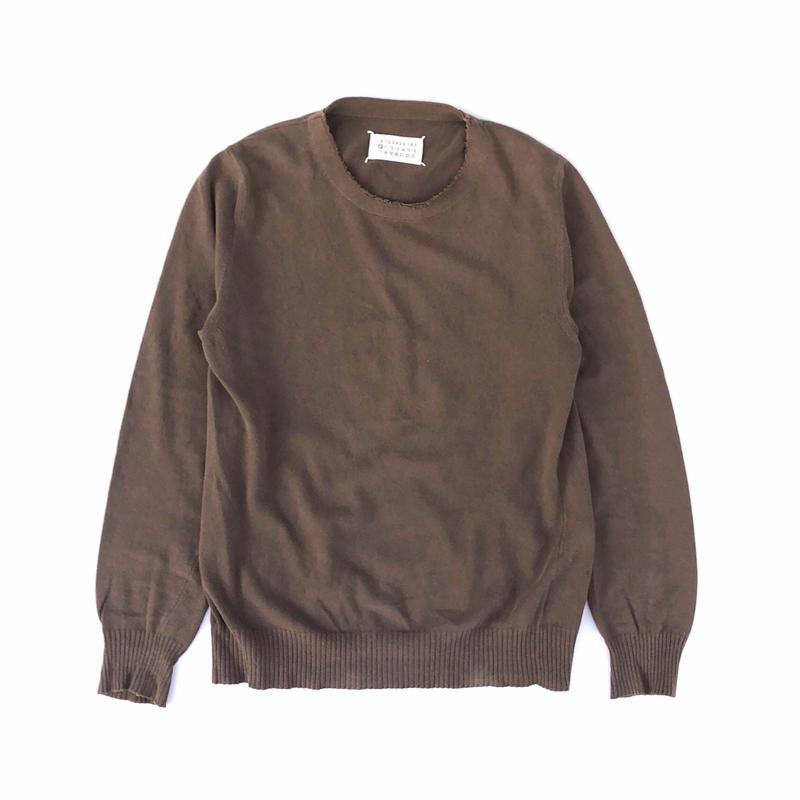 Maison Martin Margiela ⑩ Cotton Linen Knit (spice)