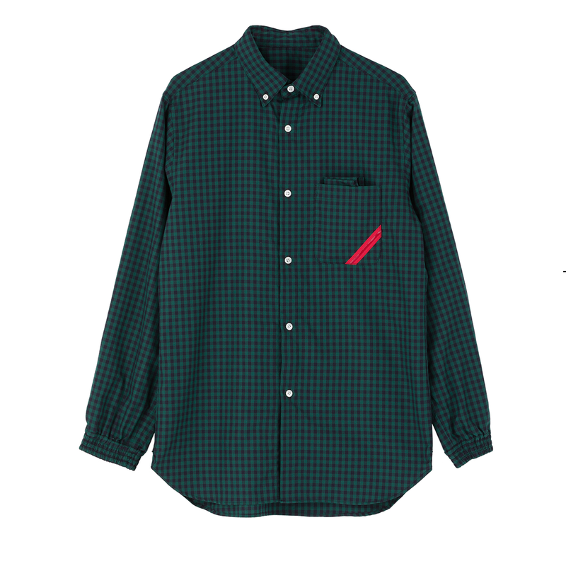 PHINGERIN / SOUP SHIRT GINGHAM OX (green)