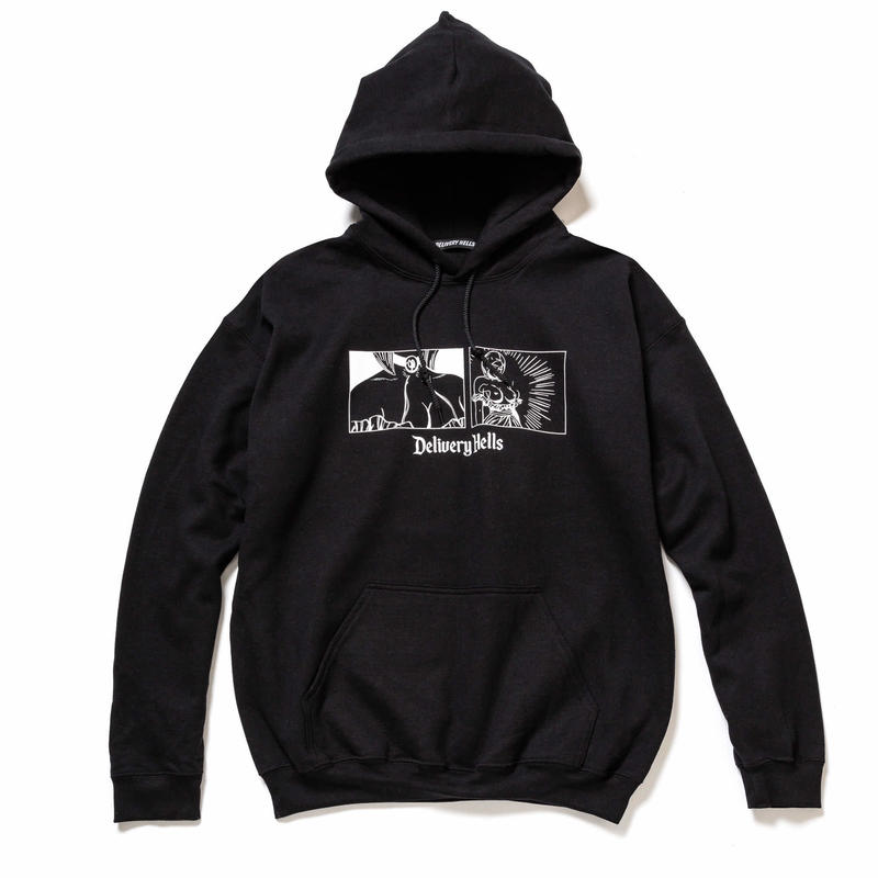 "Delivery Hells / ""come loose"" HOODIE (black)"