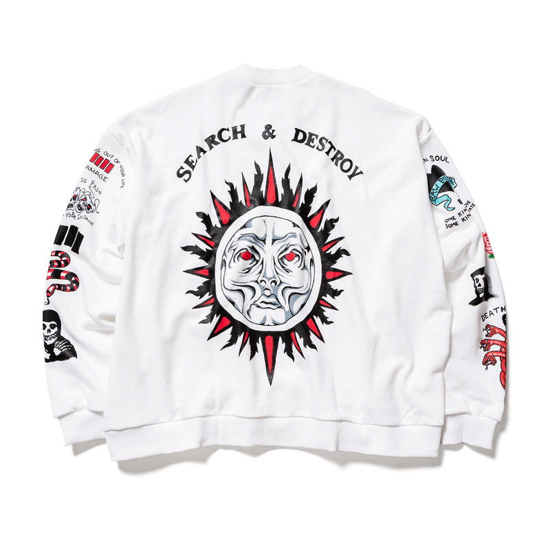 F-LAGSTUF-F /TATOO  SWEAT (white)