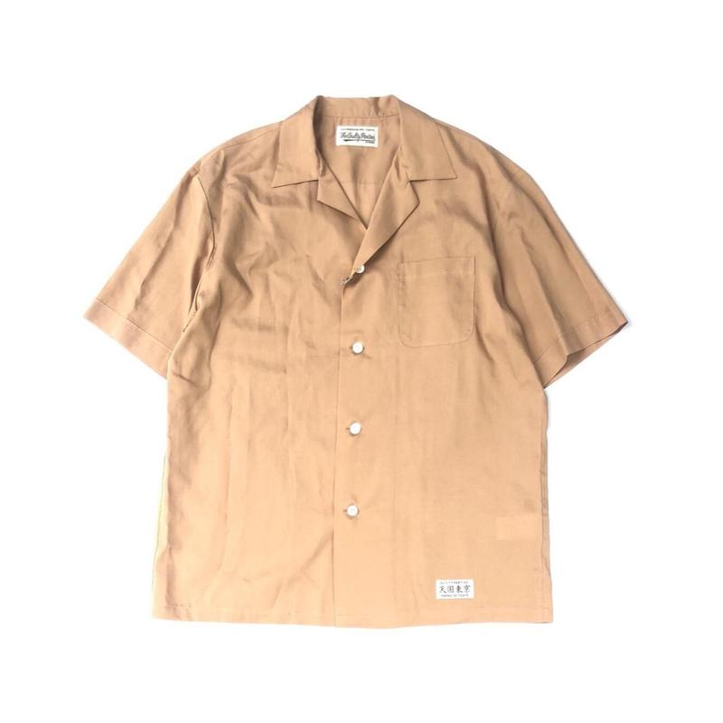 WACKO MARIA / MAFIA SHIRT L/S (type-1,brown)