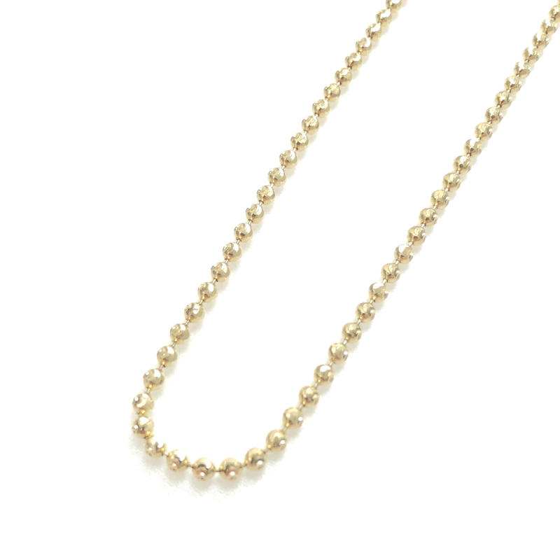 """14K GOLD NECKLACE """"Cutting Ball Chain"""" (50cm)#3"""