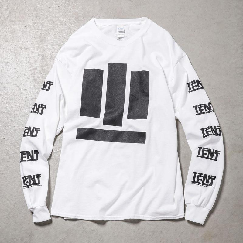 """Tenjinyu / 10th """"BUSINESS AS USUAL"""" L/S Tee (white)"""