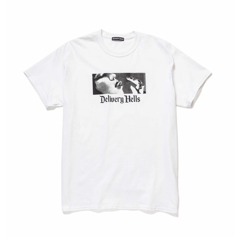 "Delivery Hells / ""HELL BOX"" Tee (white)"