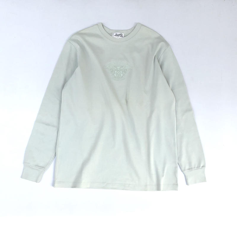HERMES /  Embroidery L/S T-shirt  (Hi brand hurugi)