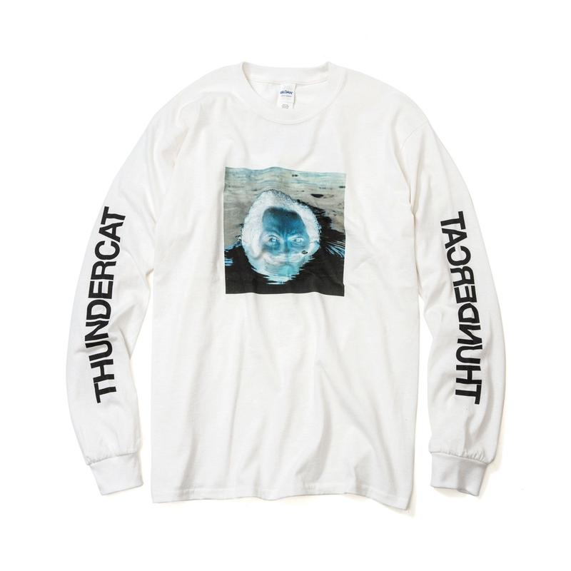 THUNDERCAT / 『DRUNK』Remix Long Sleeve T-shirt 'Reflect'  (white)