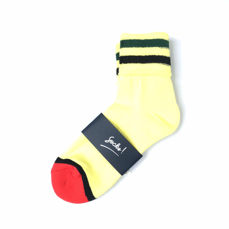 PHINGERIN / SOCKS! TWO LINER (L.yellow × green × black)