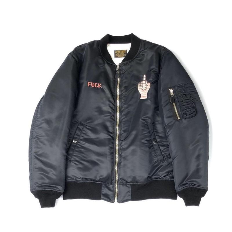 WACKO MARIA / MA-1 FLIGHT JACKET (type-4,black)