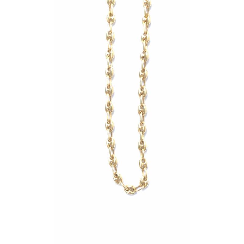 "14K GOLD NECKLACE ""Butabana"" (50cm)#10"