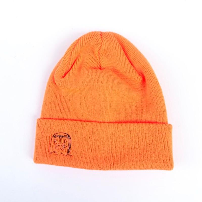 FORTY PERCENT AGAINST RIGHTS / RIP BEANIE CAP (orange)