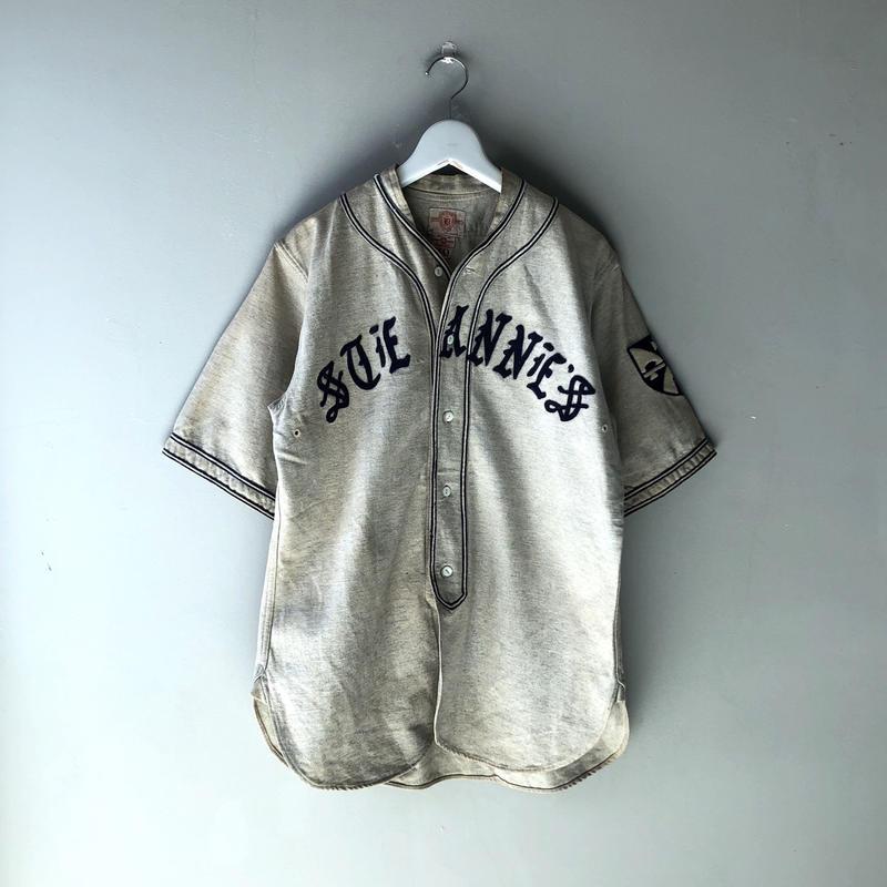 "40's Baseball Shirt ""ブラックレター"" (spice)"