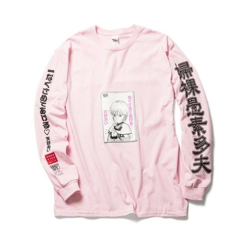 "F-LAGSTUF-F x VIDEO GIRL (電影少女) / ""VIDEO"" L/S Tee (pink)"