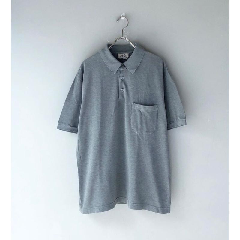 HERMES /  S/S Polo Shirt  (gray)