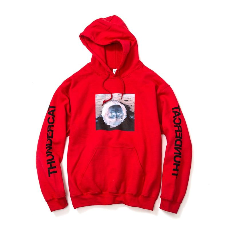 THUNDERCAT / 『DRUNK』Remix Hoodie 'Reflect'  (red)