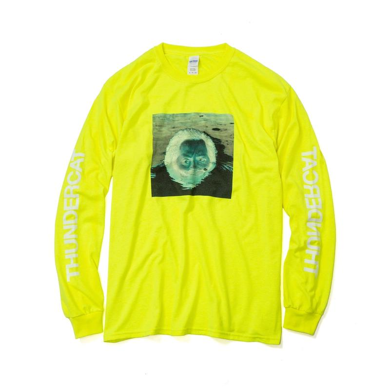 THUNDERCAT / 『DRUNK』Remix Long Sleeve T-shirt 'Reflect' (safety green)