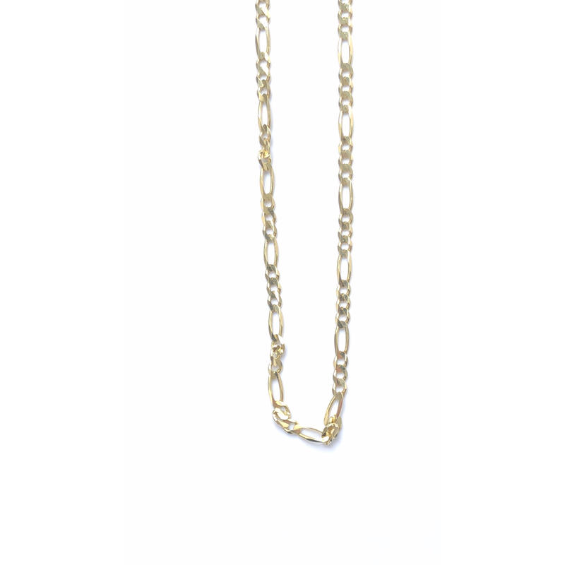 "14K GOLD NECKLACE ""Figaro"" (60cm)#14"