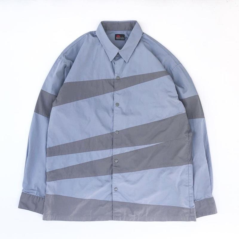MASSES /  CRAZY PATTERN SHIRT (light blue)