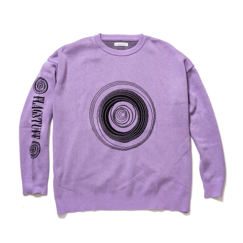 "F-LAGSTUF-F / ""MD"" COTTON KNIT (purple)"
