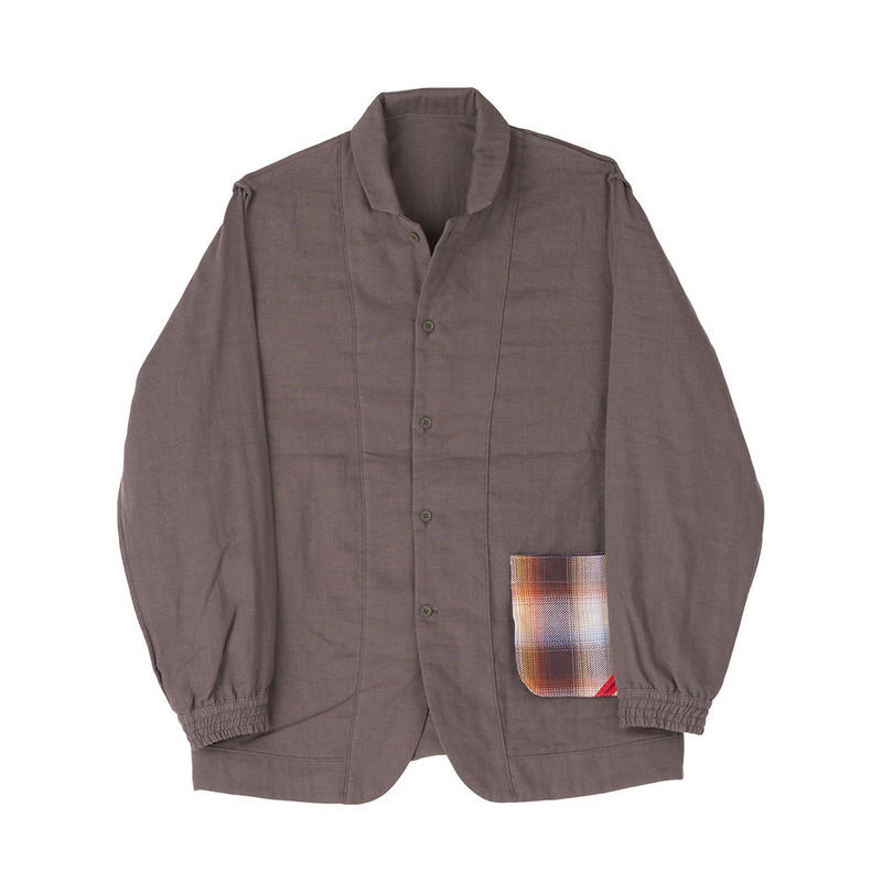 PHINGERIN / night shirt gauze(khaki)