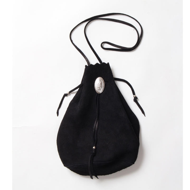 WACKO MARIA / SUEDE SHOULDER BAG (type-2.black)