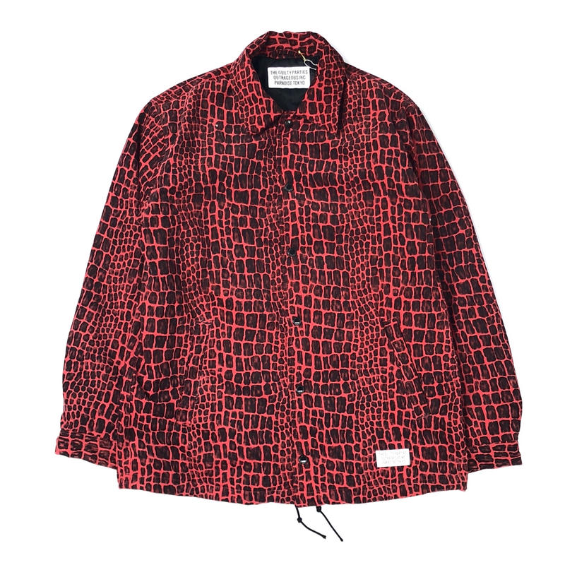 WACKO MARIA / CROCODILE CORDUROY COACH JACKET (type-1,red)
