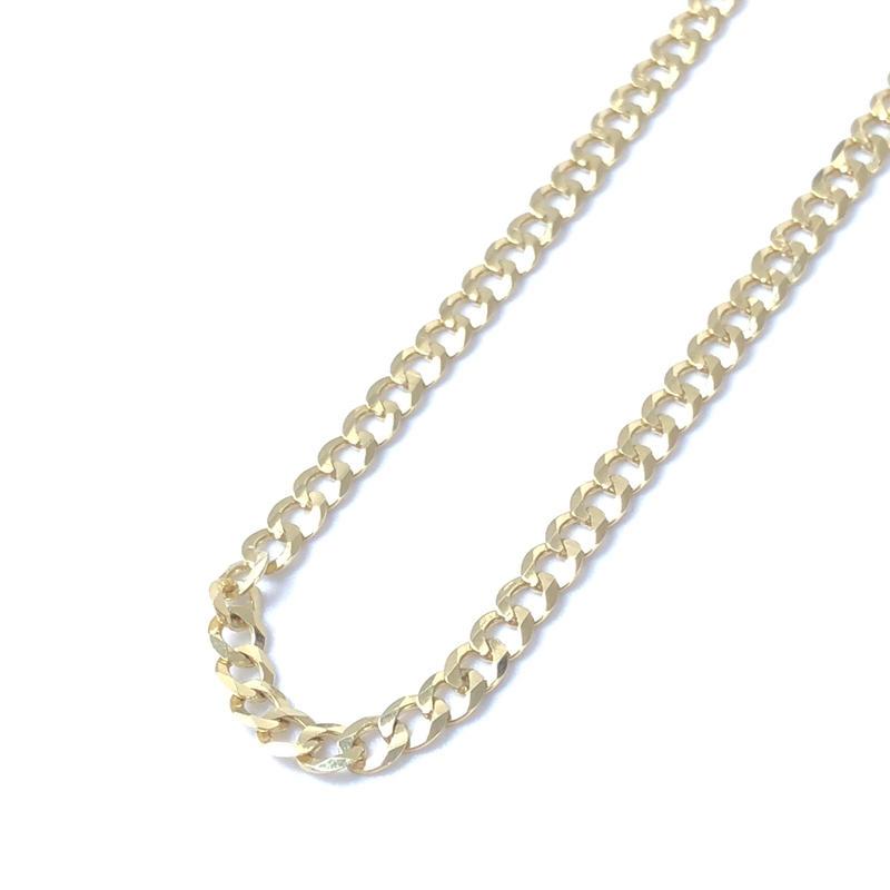 """14K GOLD NECKLACE """"Cuban Link"""" (50cm)#7"""