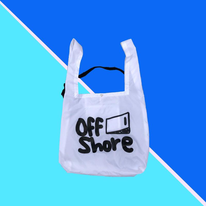 "offshore coffee  "" Rip Shoulder Marche Bag ""  (white)"