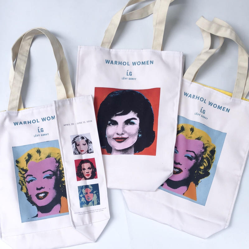 """Levy Gorvy presents Warhol Women exhibition "" TOTE BAG (spice)"