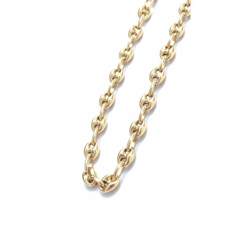 "14K GOLD NECKLACE ""Butabana"" (60cm)#8"