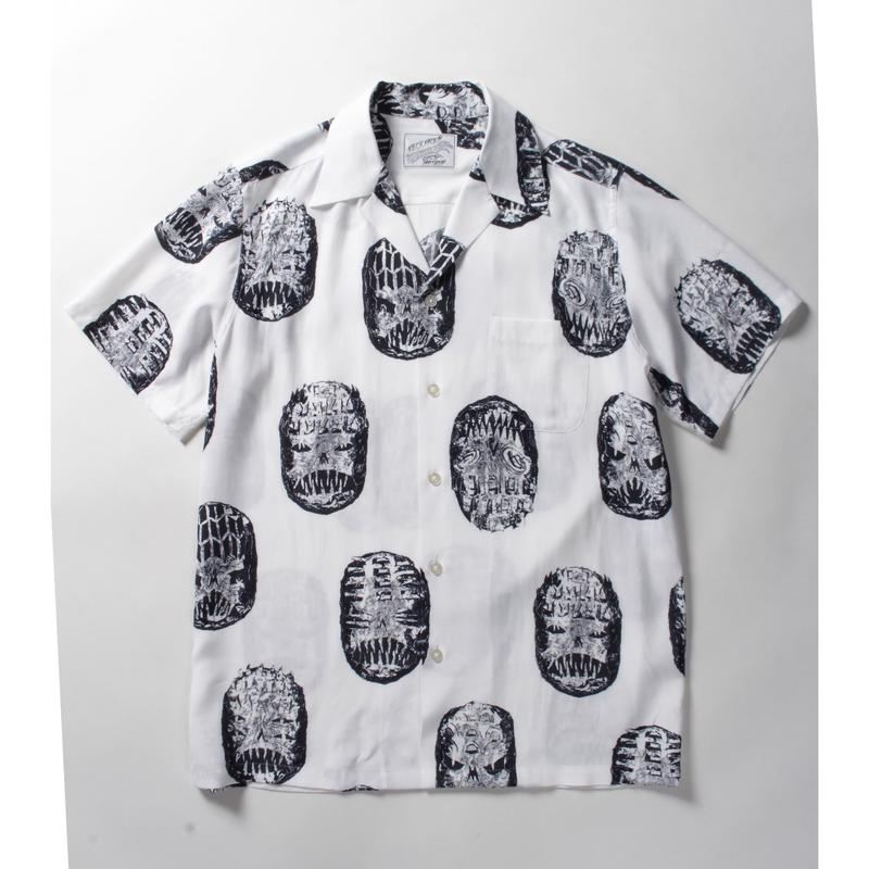 WACKO MARIA x NECK FACE / HAWAIIAN SHIRT (white)