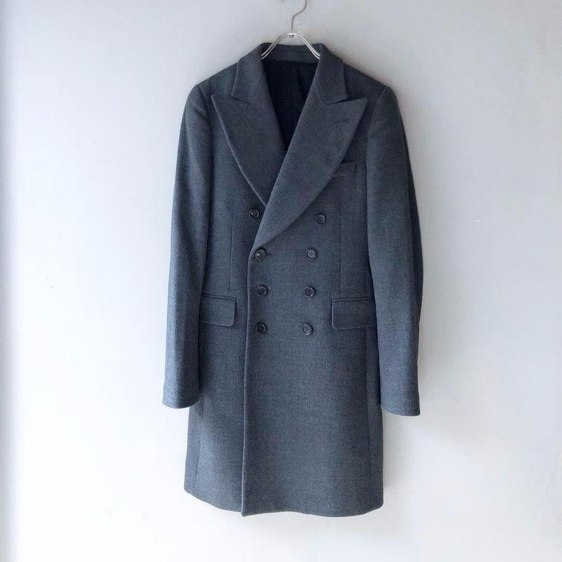 YvesSaintLaurent  / Wool Double Coat (Hi brand hurugi)