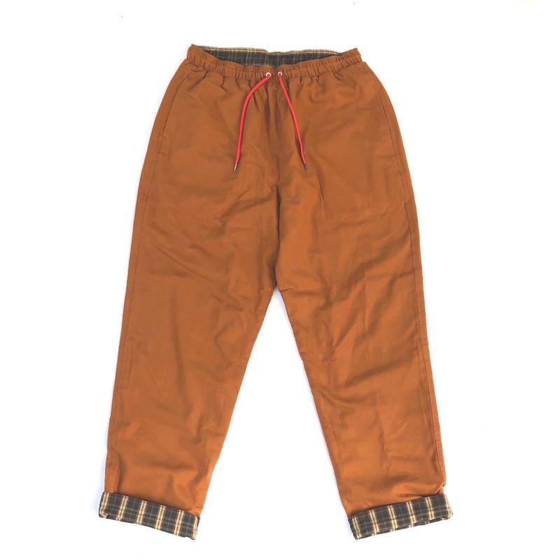 THREE FACE / REVERSIBLE EASY PANTS (orange)