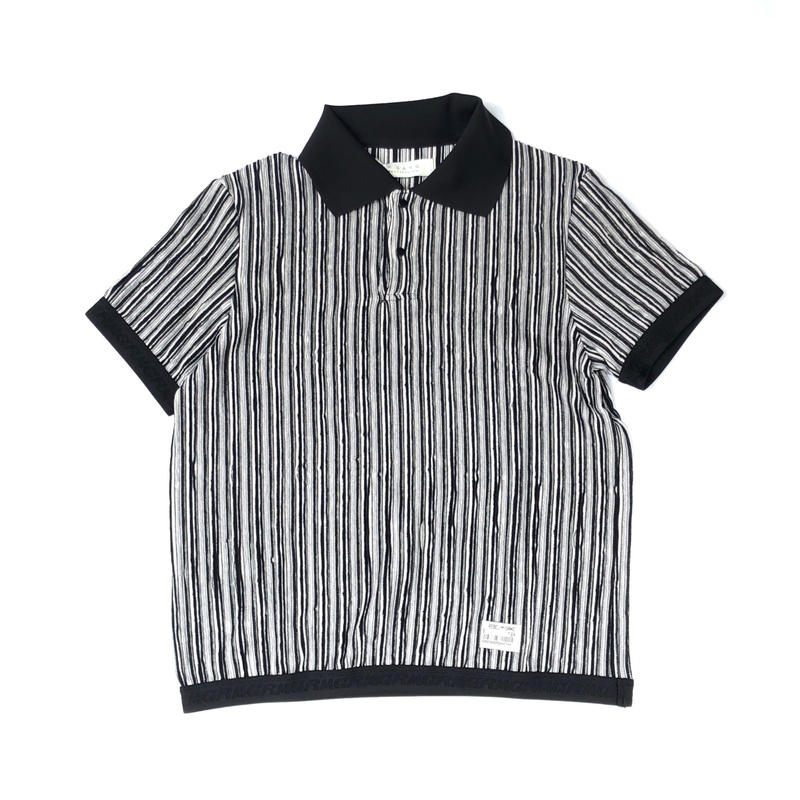 R.M GANG / RIPPLE STRIPE POLO (black)
