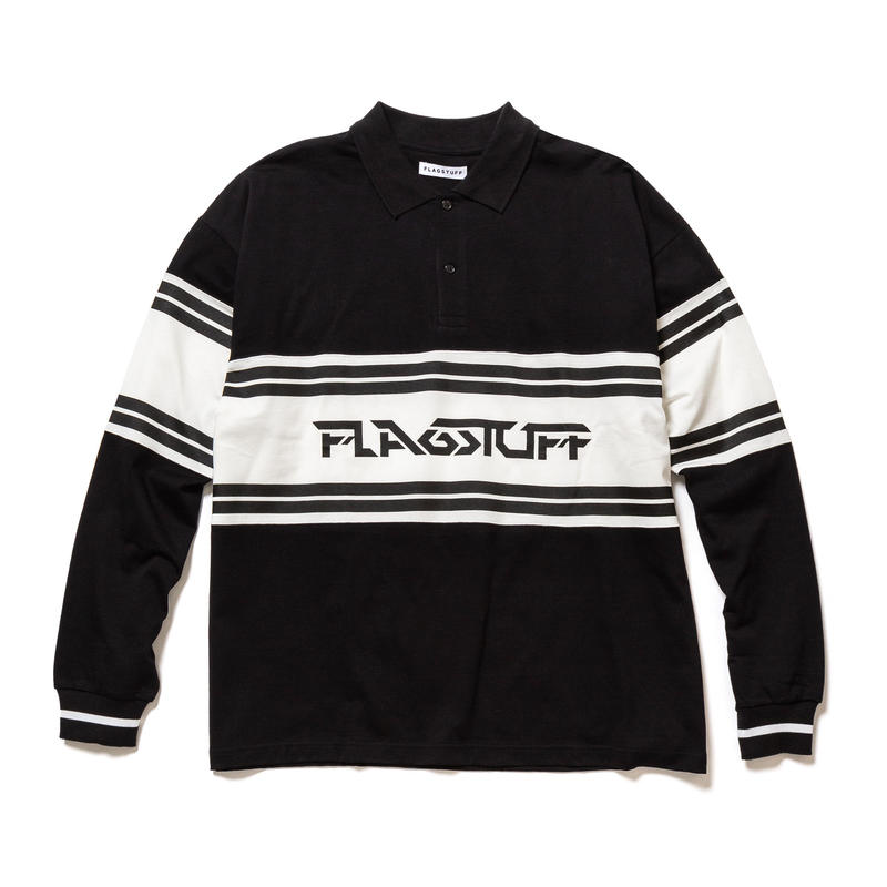 F-LAGSTUF-F / L/S POLO SHIRTS (Black)