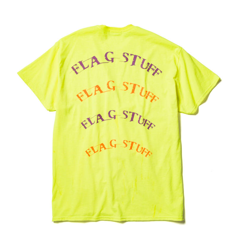 "F-LAGSTUF-F /"" Semi circle"" LOGO Tee  (yellow)"
