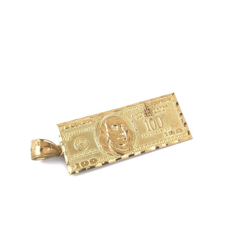 "10K GOLD Pendant Top ""$"" ①"