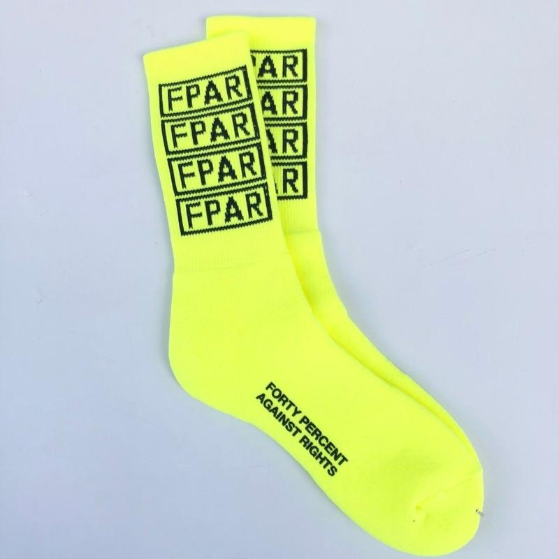 FORTY PERCENT AGAINST RIGHTS / COLLEGE SOCKS (yellow)