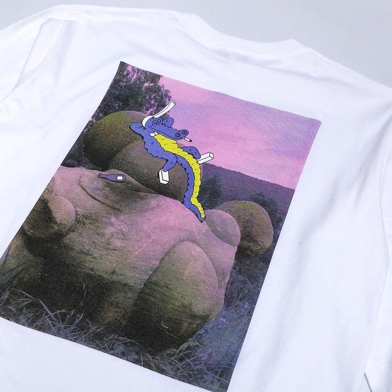 Dunno / crocodile L/S tee (white)
