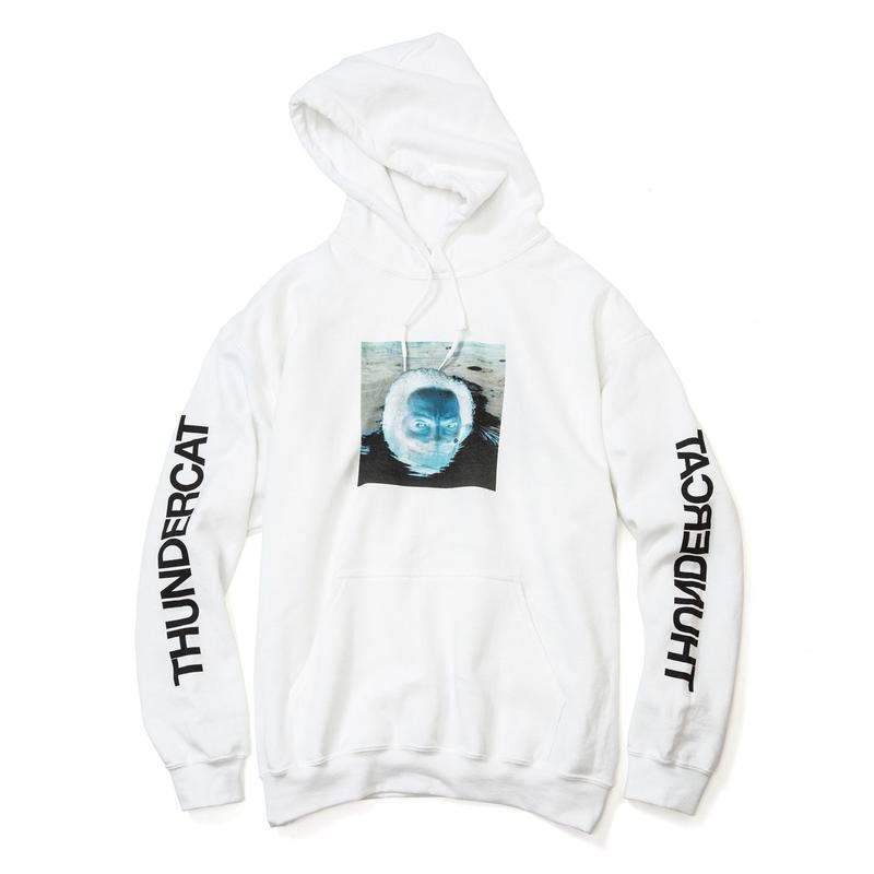 THUNDERCAT / 『DRUNK』Remix Hoodie 'Reflect'  (white)