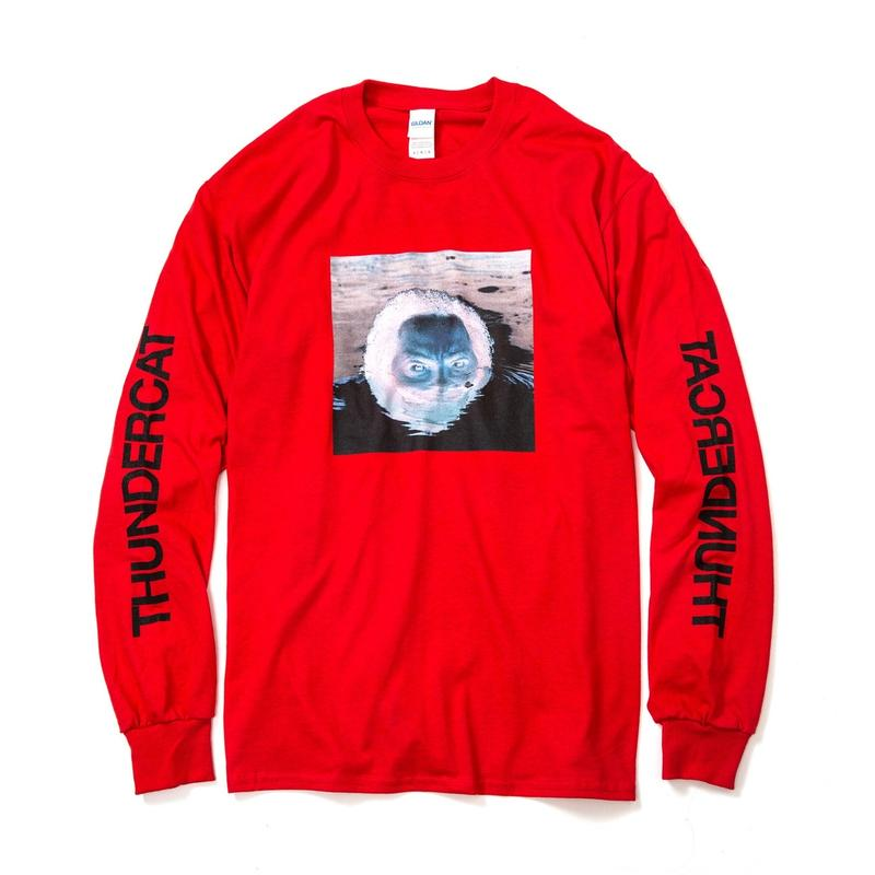 THUNDERCAT / 『DRUNK』Remix Long Sleeve T-shirt 'Reflect' (red)