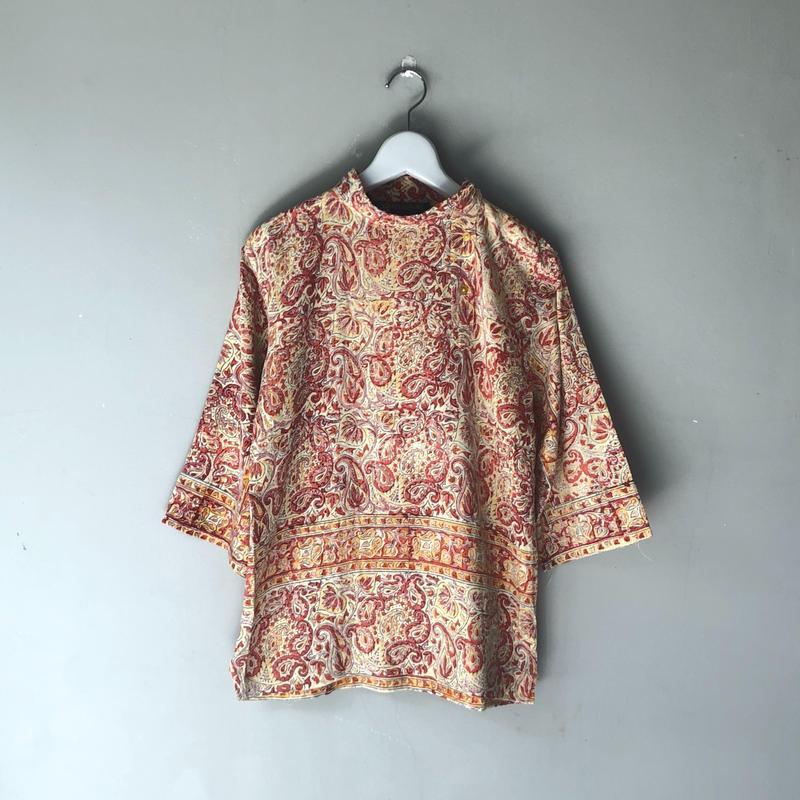 インド綿 プルオーバーシャツ (spice)